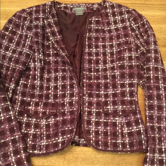 Ann Taylor Jackets & Blazers - Ann Taylor Tweed Purple Suit